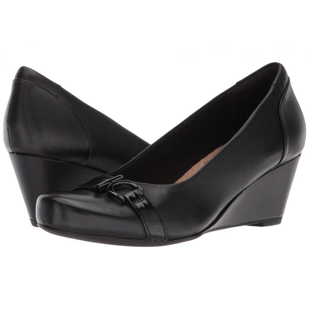 クラークス Clarks レディース ヒール シューズ・靴【Flores Poppy】Black Leather