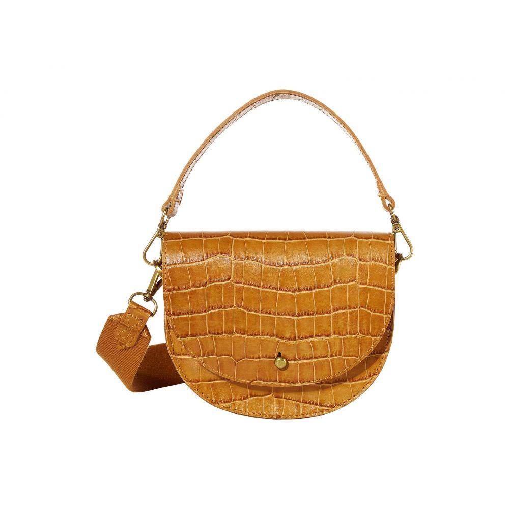 メイドウェル Madewell レディース ショルダーバッグ バッグ【Small Slim Saddle Bag in Croco】Boutique Gold