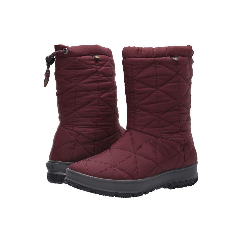 ボグス Bogs レディース ブーツ シューズ・靴【Snowday Mid】Wine