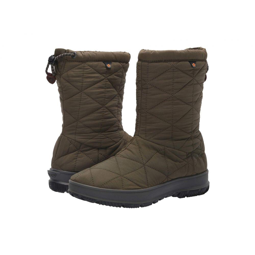 ボグス Bogs レディース ブーツ シューズ・靴【Snowday Mid】Dark Green