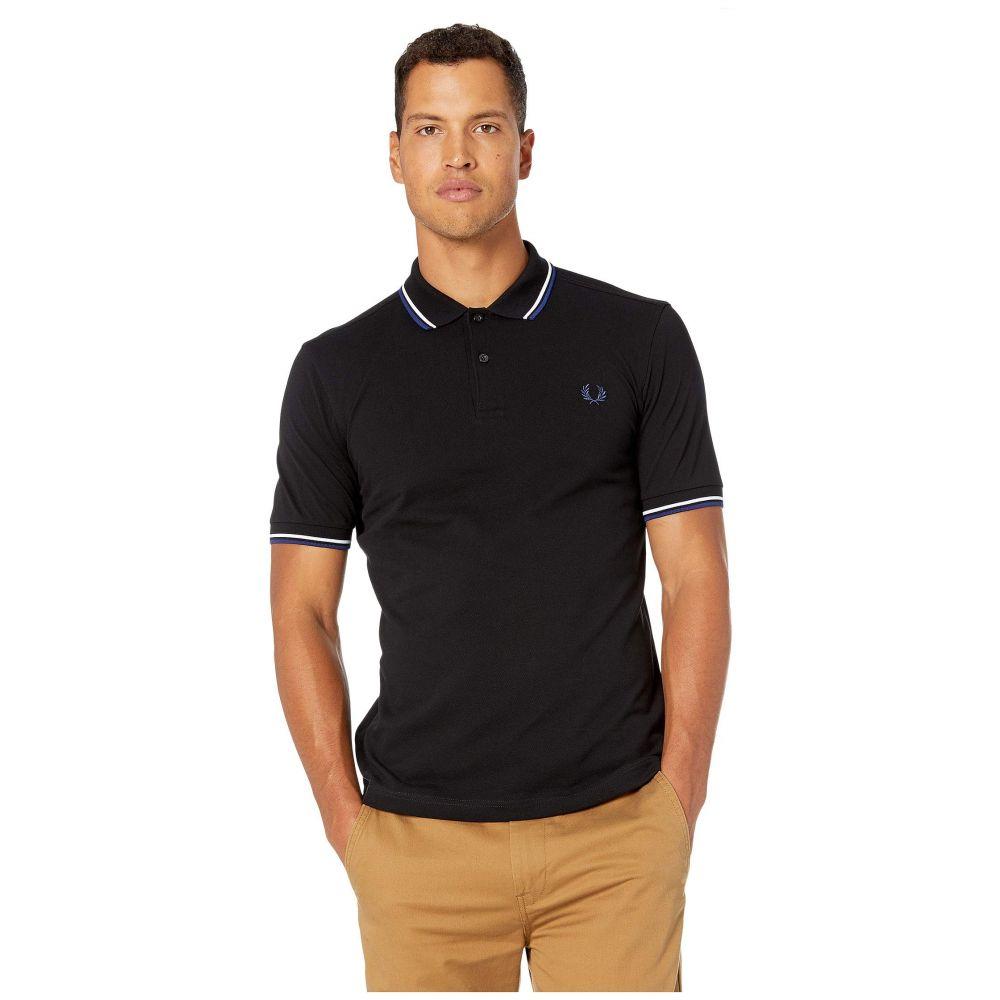 フレッドペリー Fred Perry メンズ ポロシャツ トップス【Twin Tipped Shirt】Black/White/Medium Blue