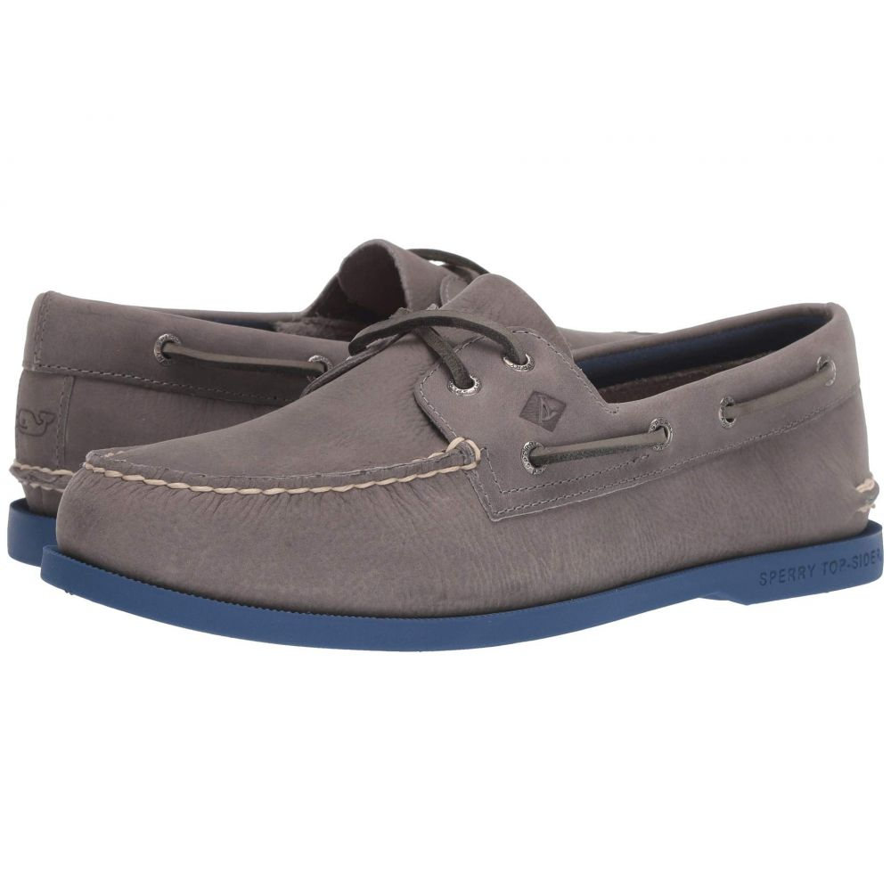 スペリー Sperry メンズ デッキシューズ シューズ・靴【Authentic Originals 2-Eye vineyard vines Plush】Grey/Blue