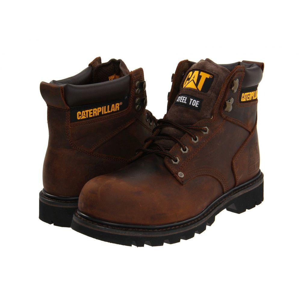 キャピタラー カジュアル Caterpillar メンズ ブーツ シューズ・靴【2nd Shift Steel Toe】Dark Brown Leather