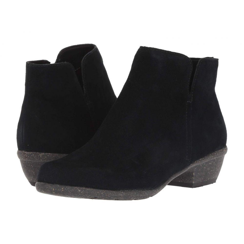 クラークス Clarks レディース ブーツ シューズ・靴【Wilrose Frost】Black Suede