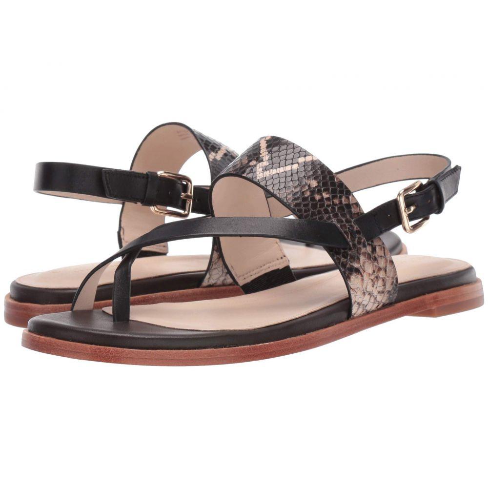 コールハーン Cole Haan レディース サンダル・ミュール トングサンダル シューズ・靴【G.OS Anica Thong Sandal】Black Multi Snake Print/Black/Java Leather
