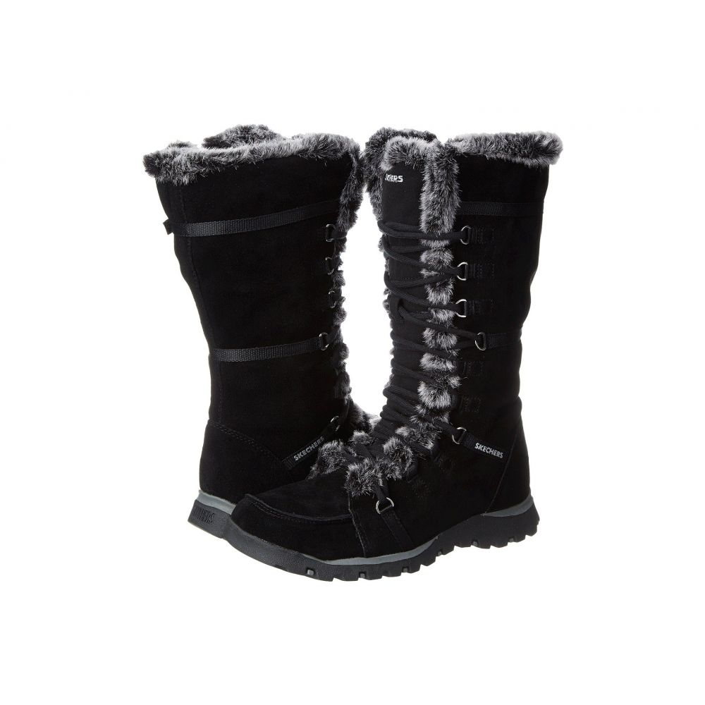 スケッチャーズ SKECHERS レディース ブーツ シューズ・靴【Grand Jams - Unlimited】Black Suede