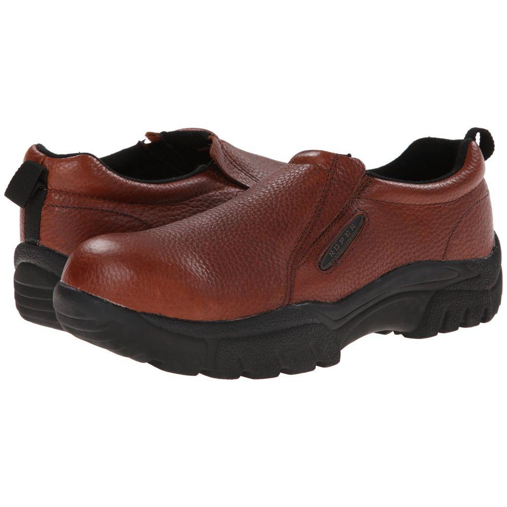 ローパー Roper メンズ スリッポン・フラット シューズ・靴【Performance Slip On w/ Steel Toe】Brown