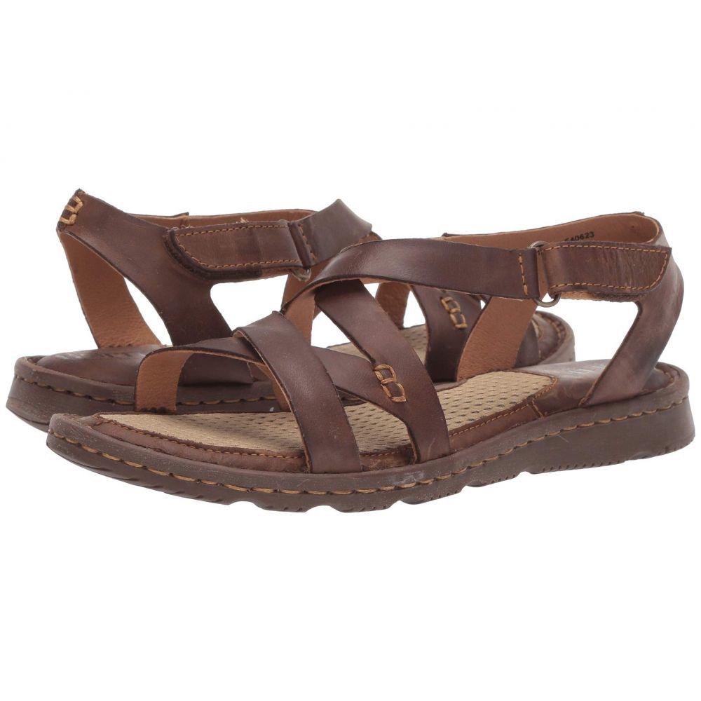 ボーン Born レディース サンダル・ミュール シューズ・靴【Trinidad】Dark Brown Full Grain Leather