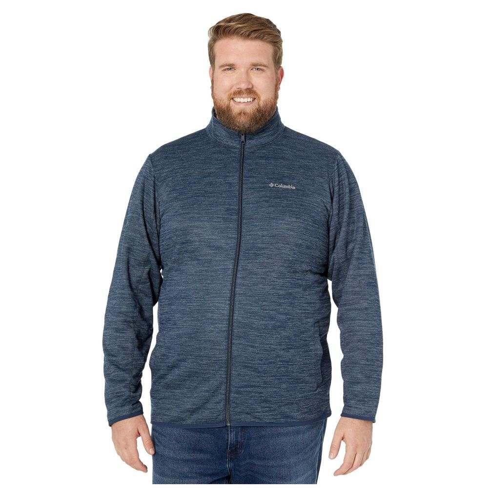 コロンビア Columbia メンズ フリース 大きいサイズ トップス【Big & Tall Birch Woods(TM) II Full Zip Fleece】Collegiate Navy/Graphite Heather