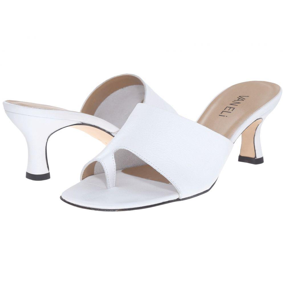 ヴァネリ Vaneli レディース ヒール シューズ・靴【Melea】White Seta Calf