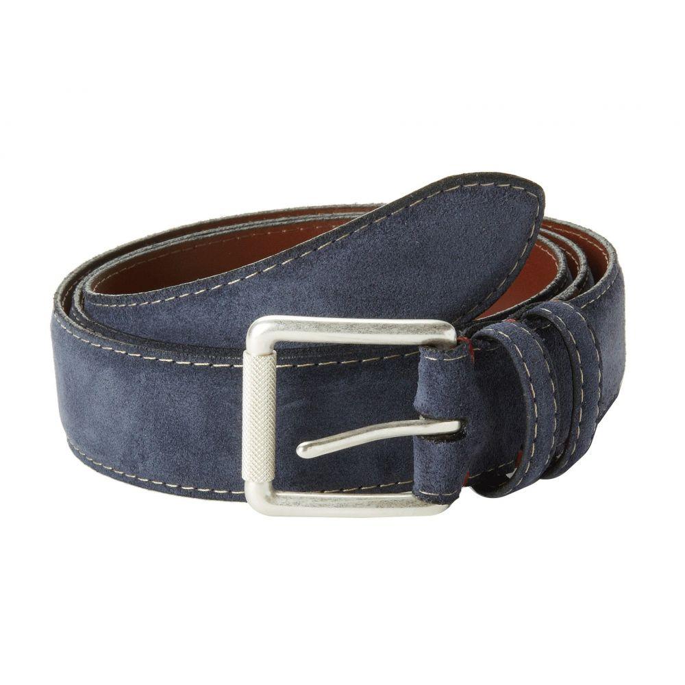 トリノレザー Torino Leather Co. メンズ ベルト 【Ital Calf Suede】Navy