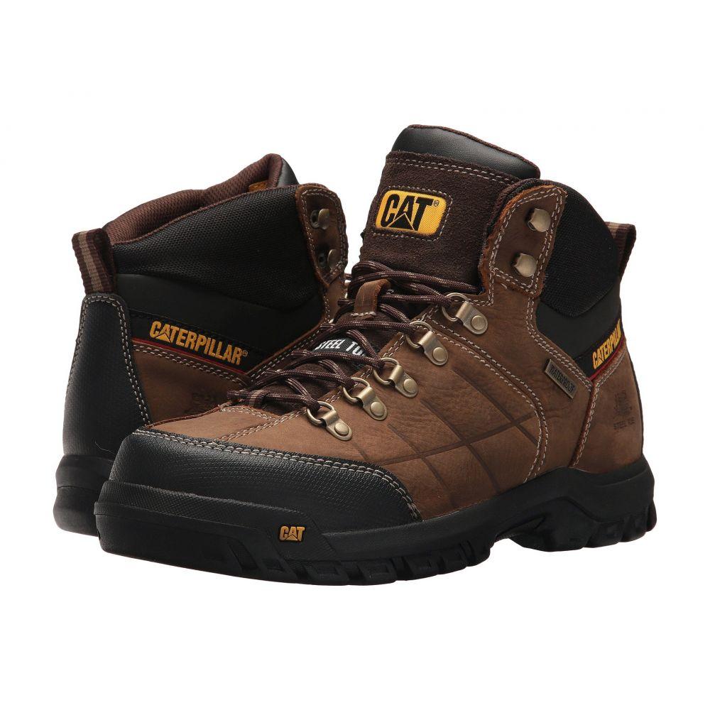 キャピタラー カジュアル Caterpillar メンズ ブーツ シューズ・靴【Threshold Waterproof Steel Toe】Brown
