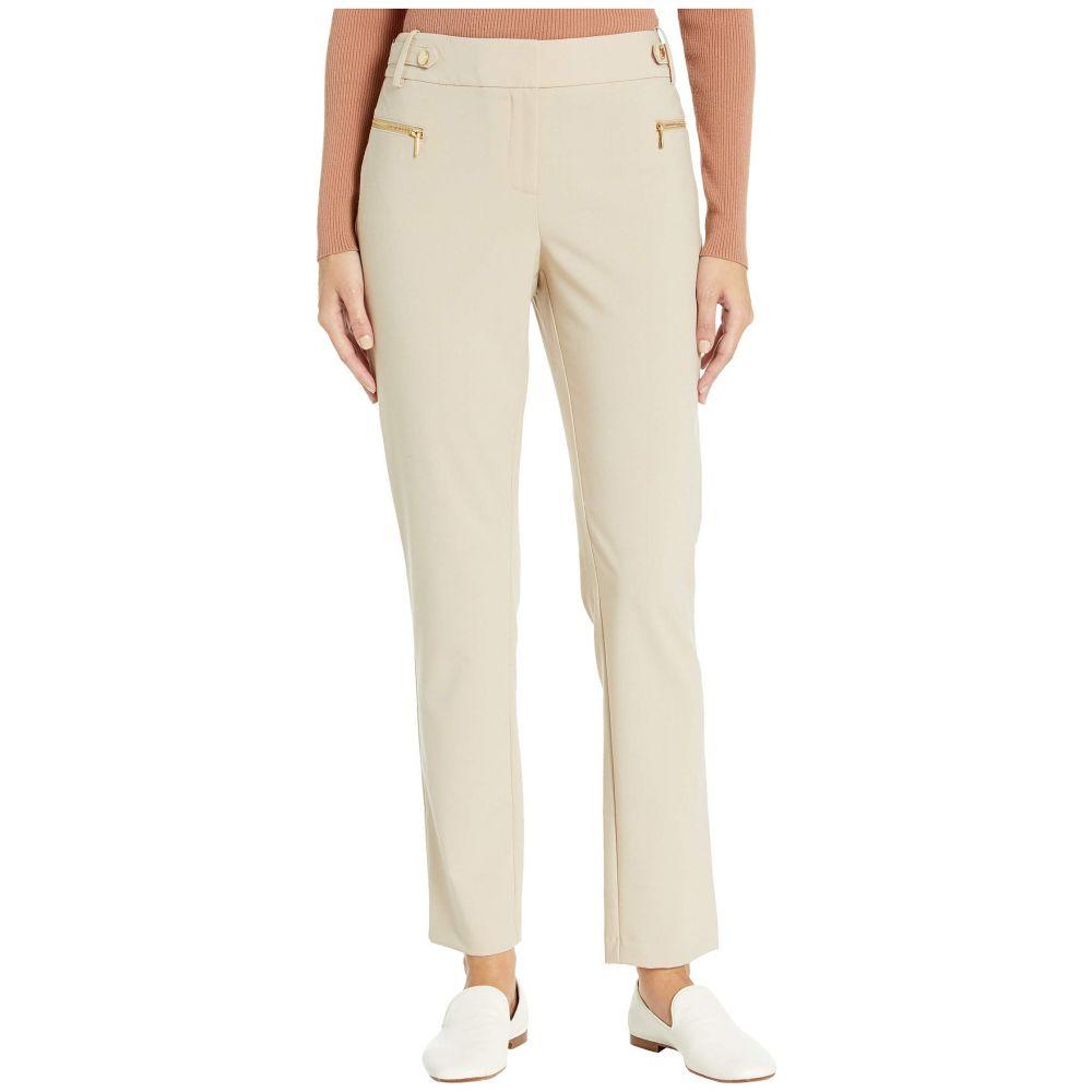 カルバンクライン Calvin Klein レディース ボトムス・パンツ 【Straight Pants with Buckle and Zip】Latte