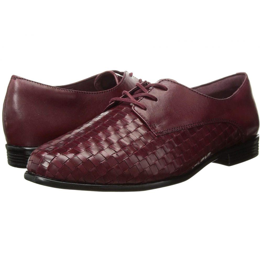 トロッターズ Trotters レディース ローファー・オックスフォード シューズ・靴【Lizzie】Black Cherry Woven/Smooth Leather