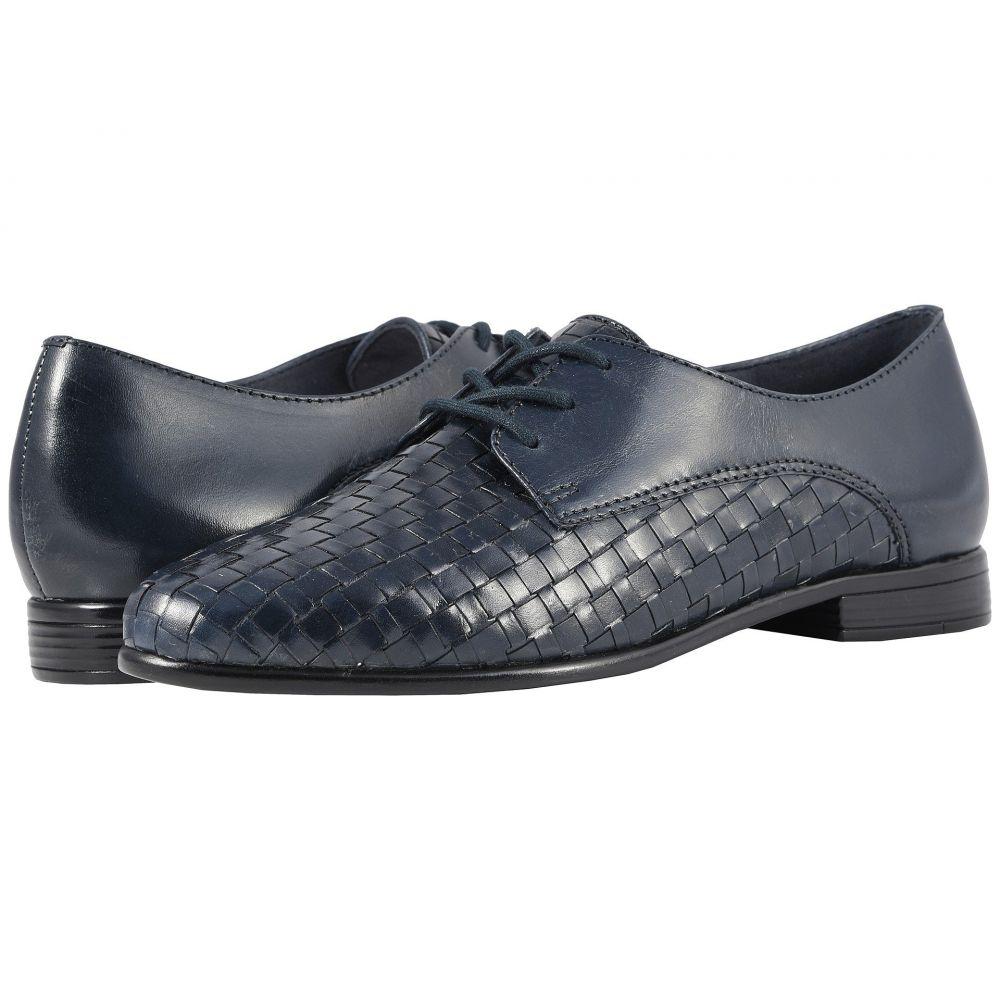 トロッターズ Trotters レディース ローファー・オックスフォード シューズ・靴【Lizzie】Navy Woven/Smooth Leather