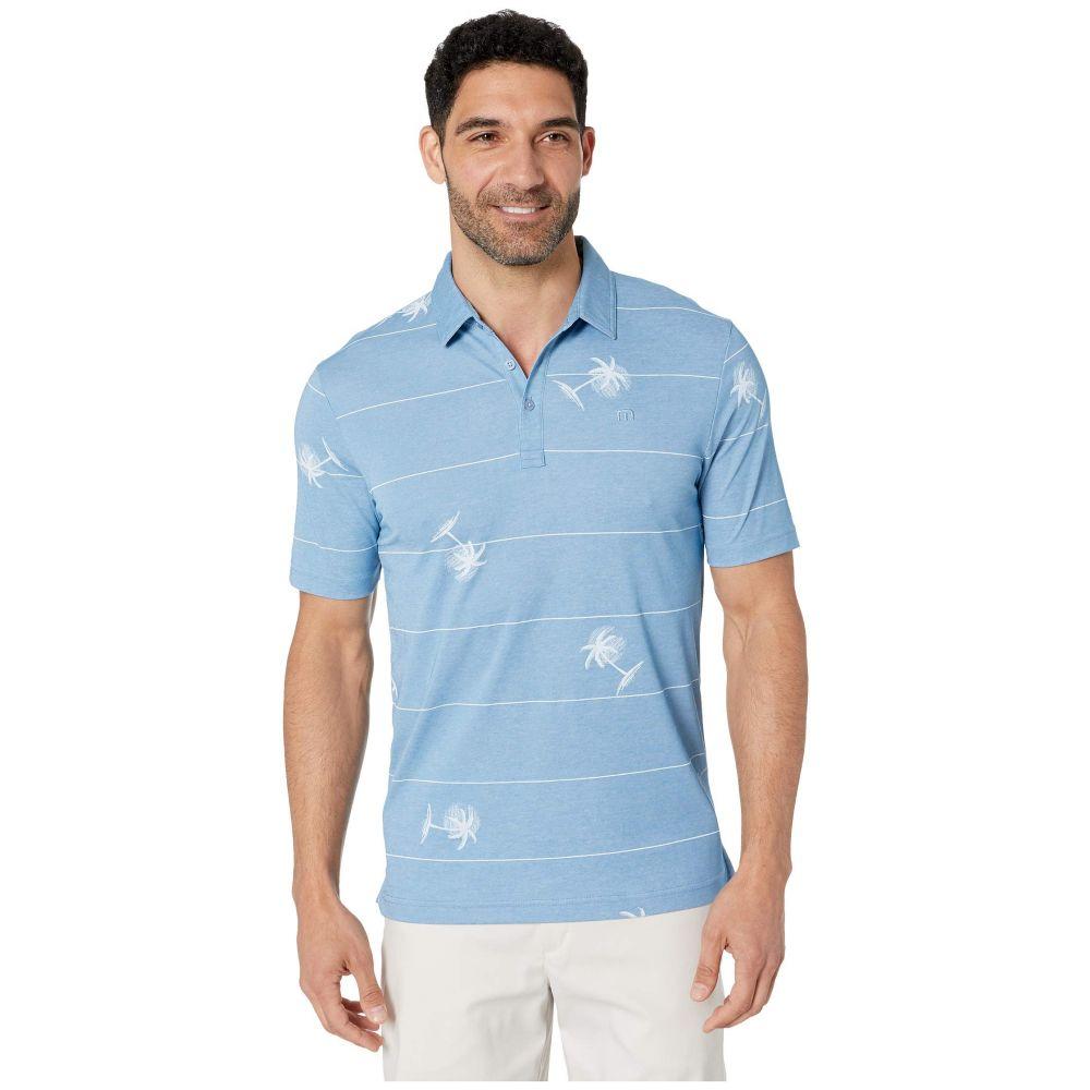 トラビスマシュー TravisMathew メンズ ポロシャツ トップス【Baumen Around Polo】Heather Parisian Blue