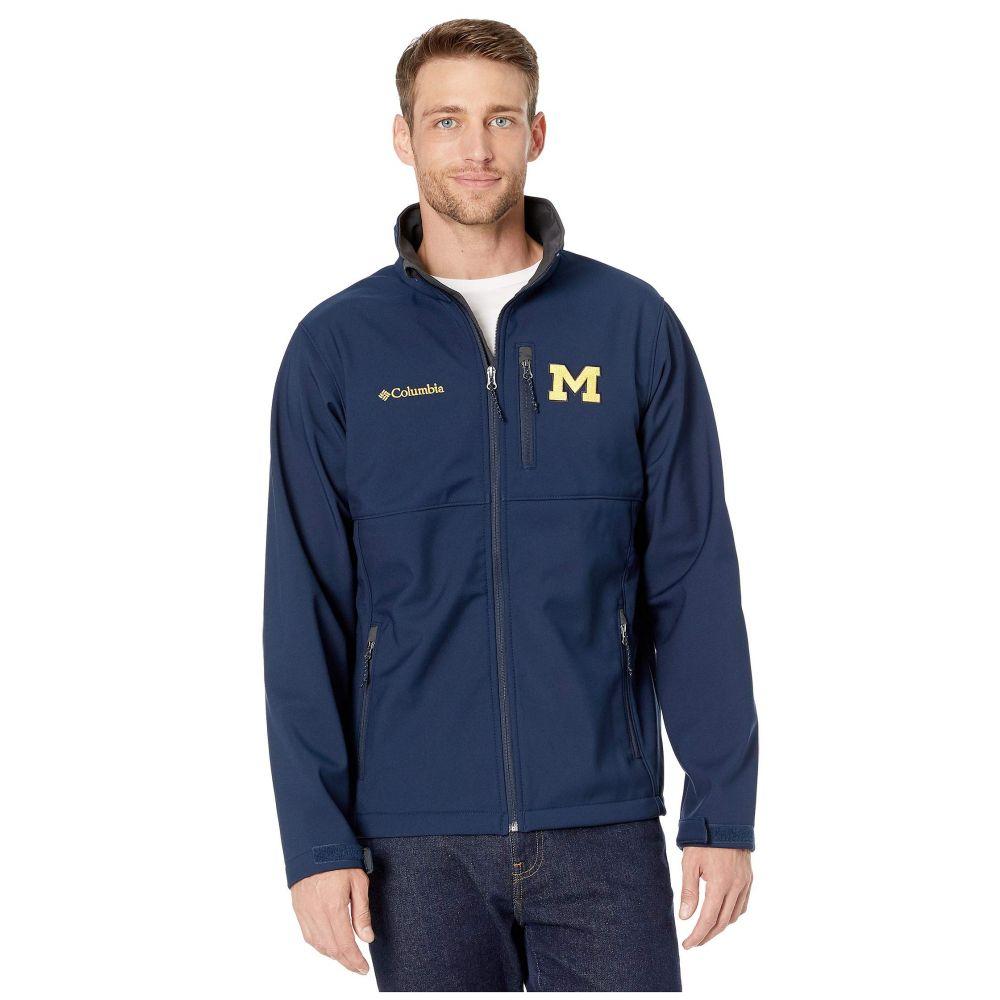 コロンビア Columbia College メンズ ジャケット ソフトシェルジャケット アウター【Michigan Wolverines Collegiate Ascender(TM) Softshell Jacket】Collegiate Navy