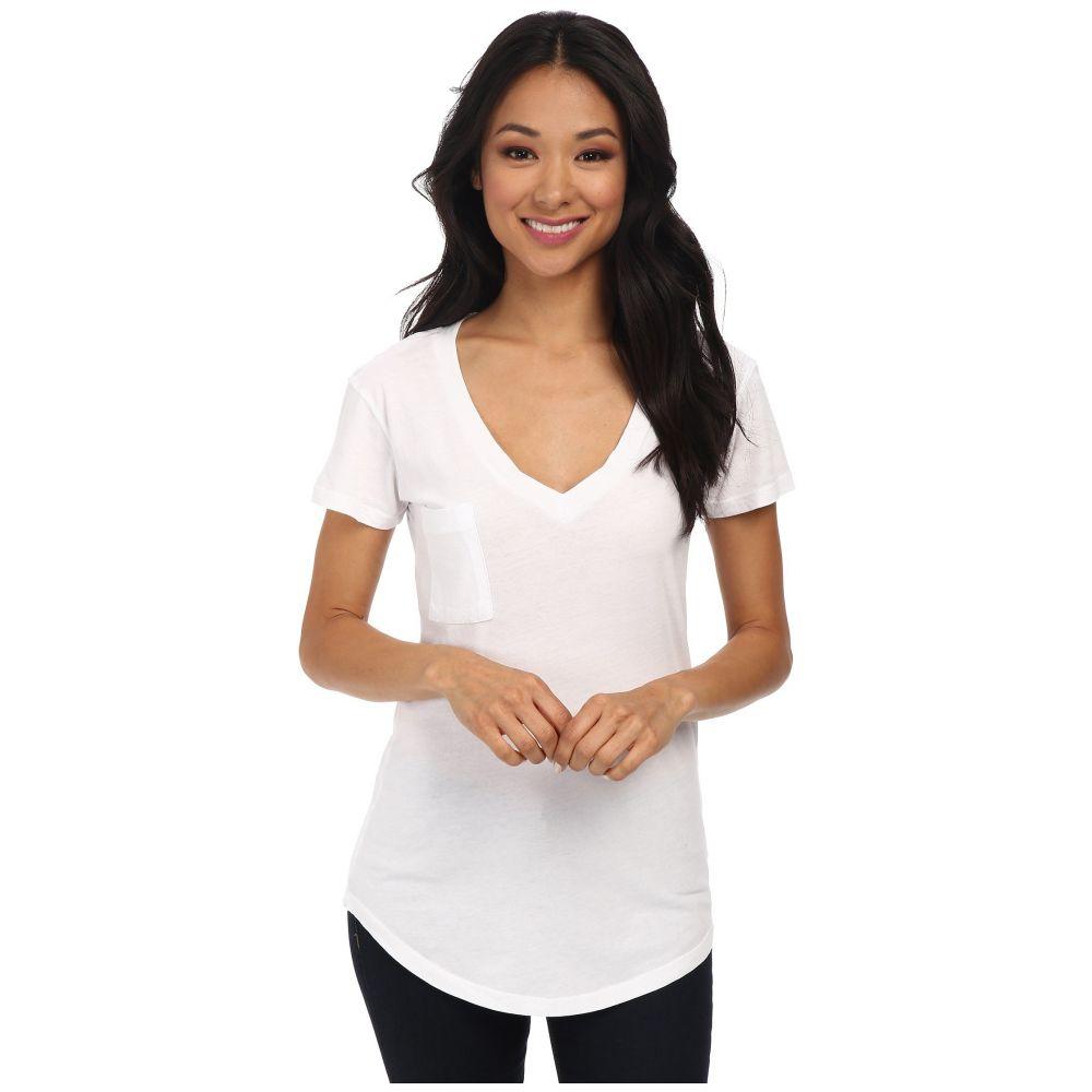 ラメイド LAmade レディース Tシャツ トップス【V-Pocket Tee - Tissue Jersey】White