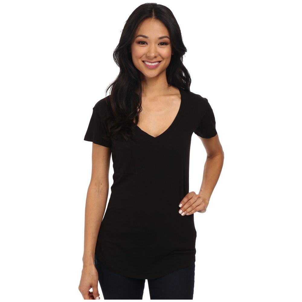 ラメイド LAmade レディース Tシャツ トップス【V-Pocket Tee - Tissue Jersey】Black