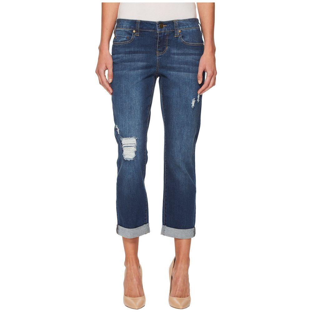 リバプール Liverpool レディース ジーンズ・デニム ボーイフレンドデニム ボトムス・パンツ【Petite Distressed Boyfriend Jeans in Montauk Mid Blue Dest/Indigo】Montauk Mid Blue Dest/Indigo