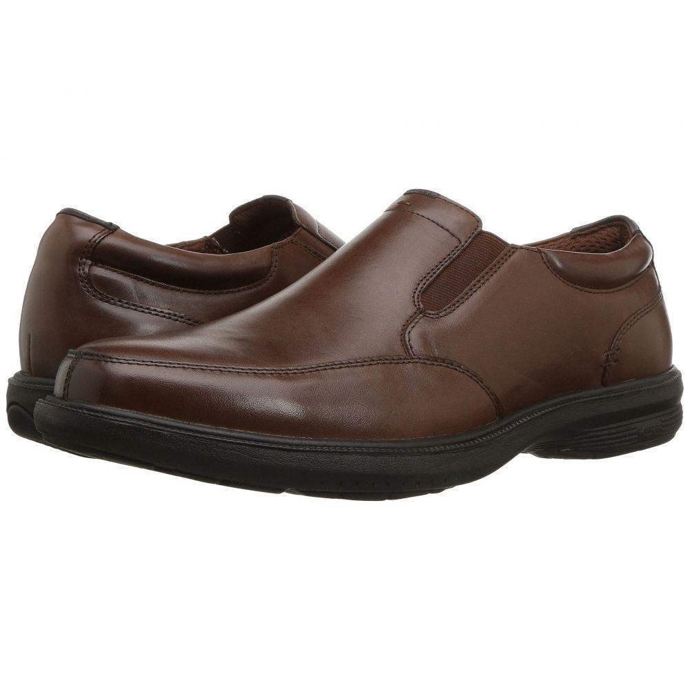ナンブッシュ Nunn Bush メンズ スリッポン・フラット モックトゥ シューズ・靴【Myles Street Moc Toe Slip-On with KORE Slip Resistant Walking Comfort Technology】Brown