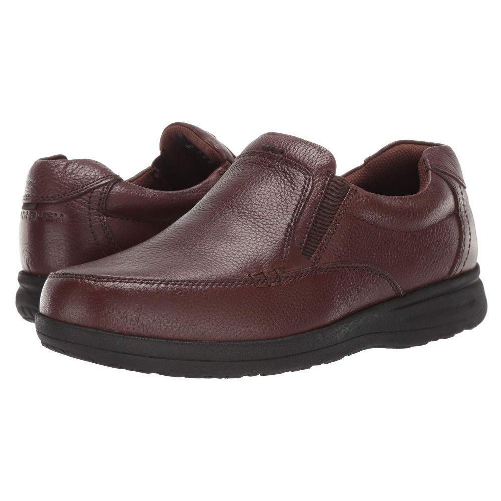 ナンブッシュ Nunn Bush メンズ スリッポン・フラット モックトゥ シューズ・靴【Cam Moc Toe Slip-On】Brown Tumbled Leather