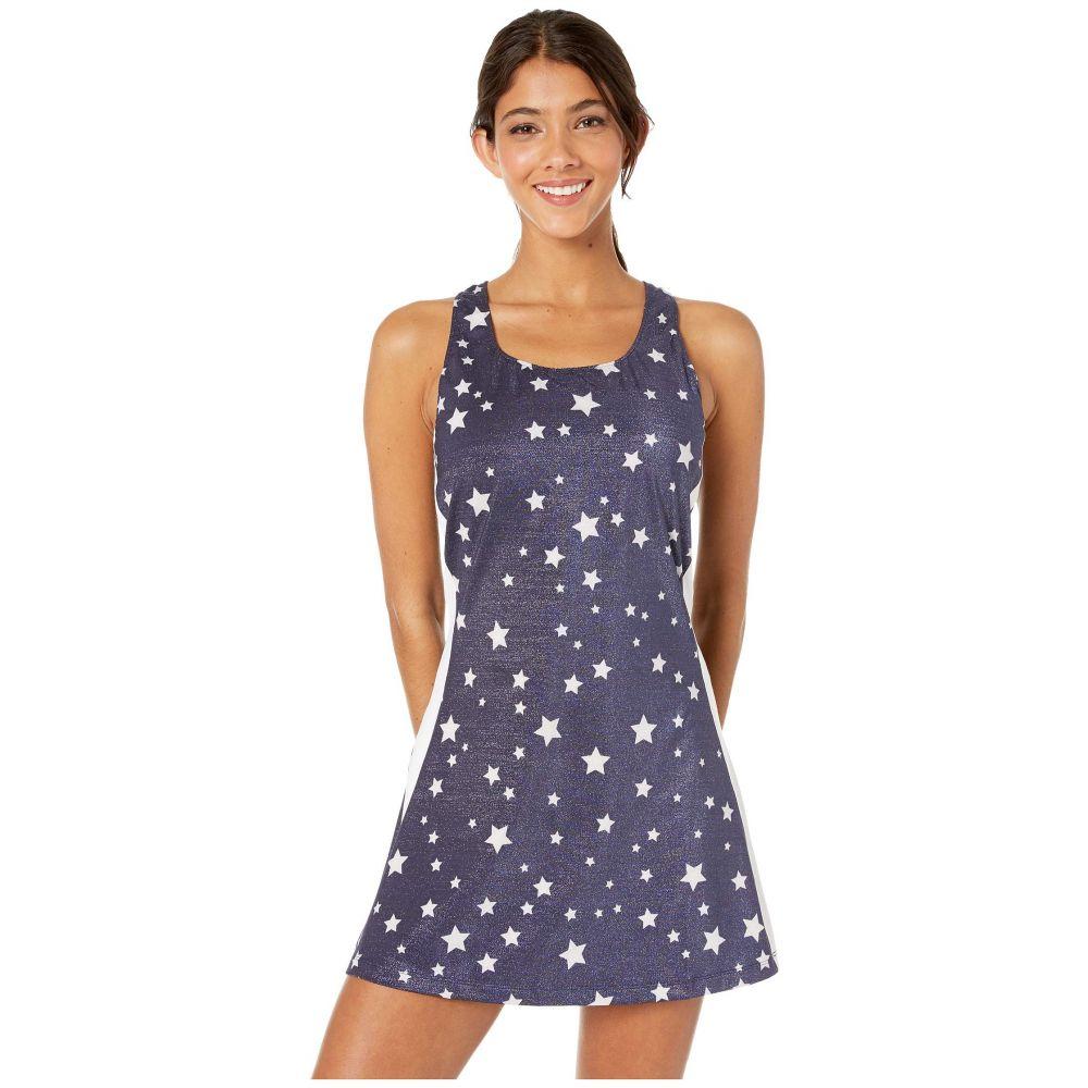 フィラ Fila レディース ワンピース ワンピース・ドレス【Heritage Star Dress】Navy Star Print/White/Red