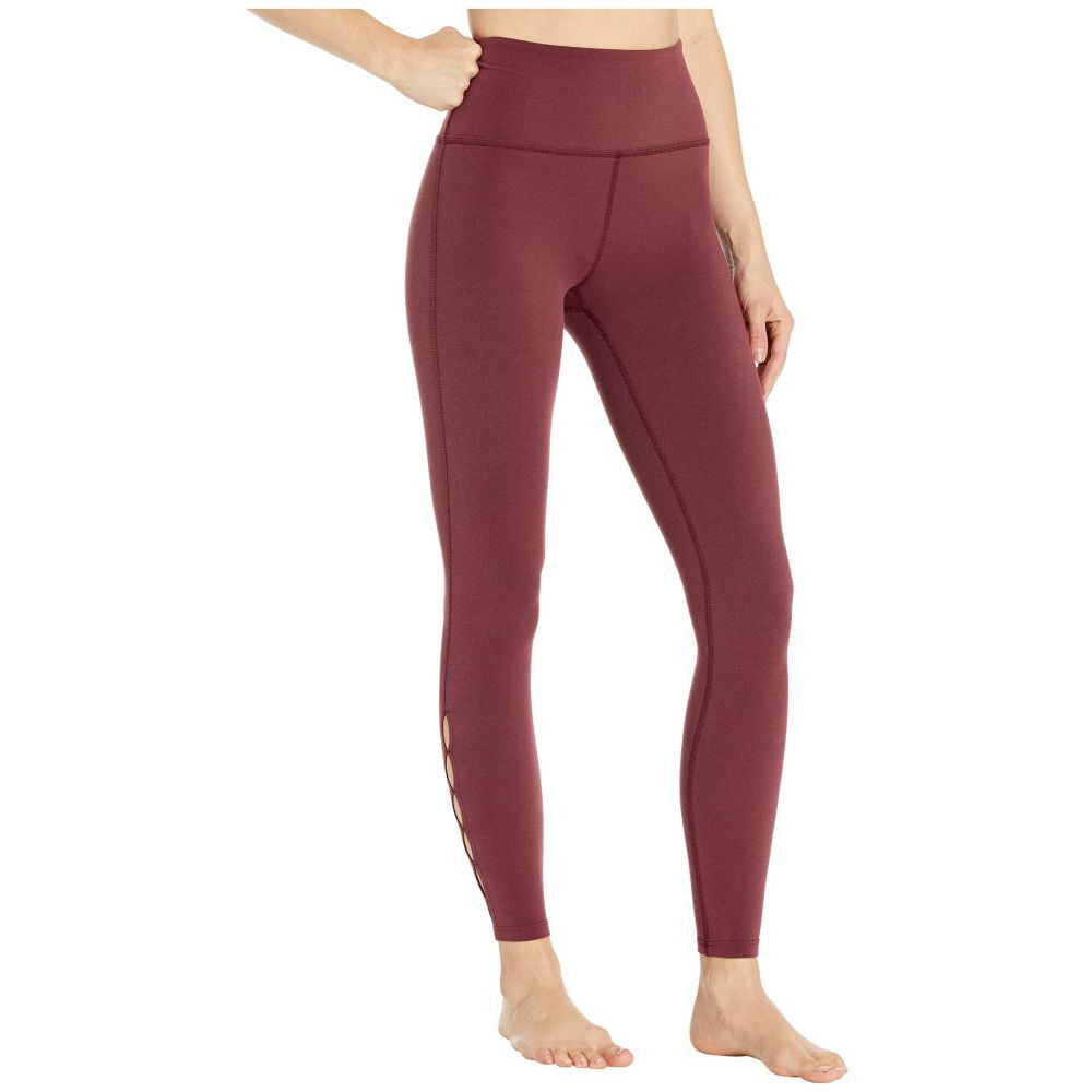 ビヨンドヨガ Beyond Yoga レディース スパッツ・レギンス インナー・下着【Peek Through High-Waisted Midi Leggings】Team Burgundy Heather