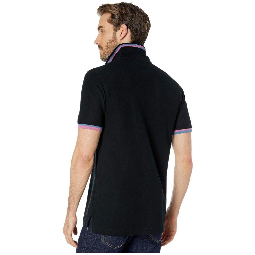 Psycho Bunny Men/'s Navy Contrast Placket Pima Cotton Classic Fit Polo Shirt