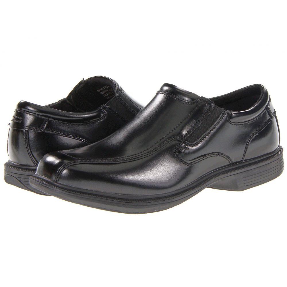 ナンブッシュ Nunn Bush メンズ スリッポン・フラット シューズ・靴【Bleeker Street Bicycle Toe Slip-On with KORE Slip Resistant Walking Comfort Technology】Black