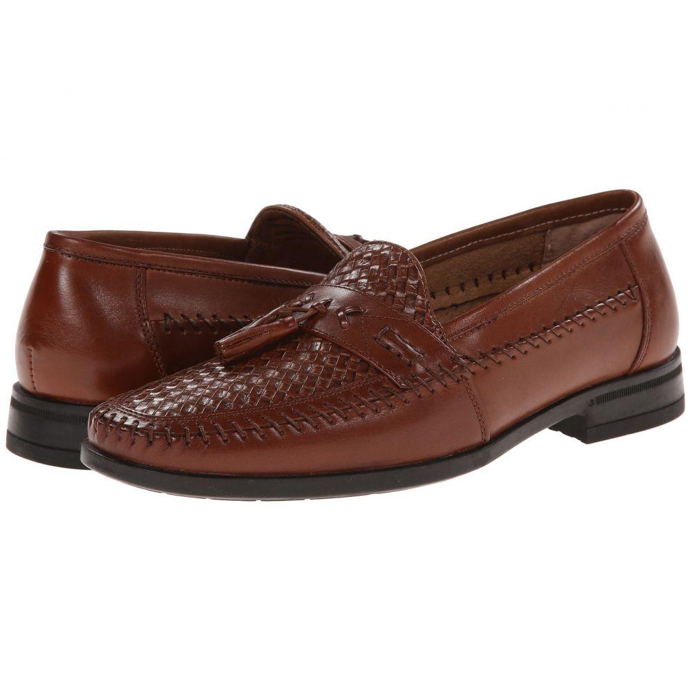 ナンブッシュ Nunn Bush メンズ ローファー モックトゥ シューズ・靴【Strafford Woven Moc Toe Loafer】Cognac