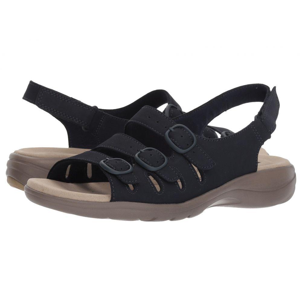 クラークス Clarks レディース サンダル・ミュール シューズ・靴【Saylie Quartz】Navy Nubuck