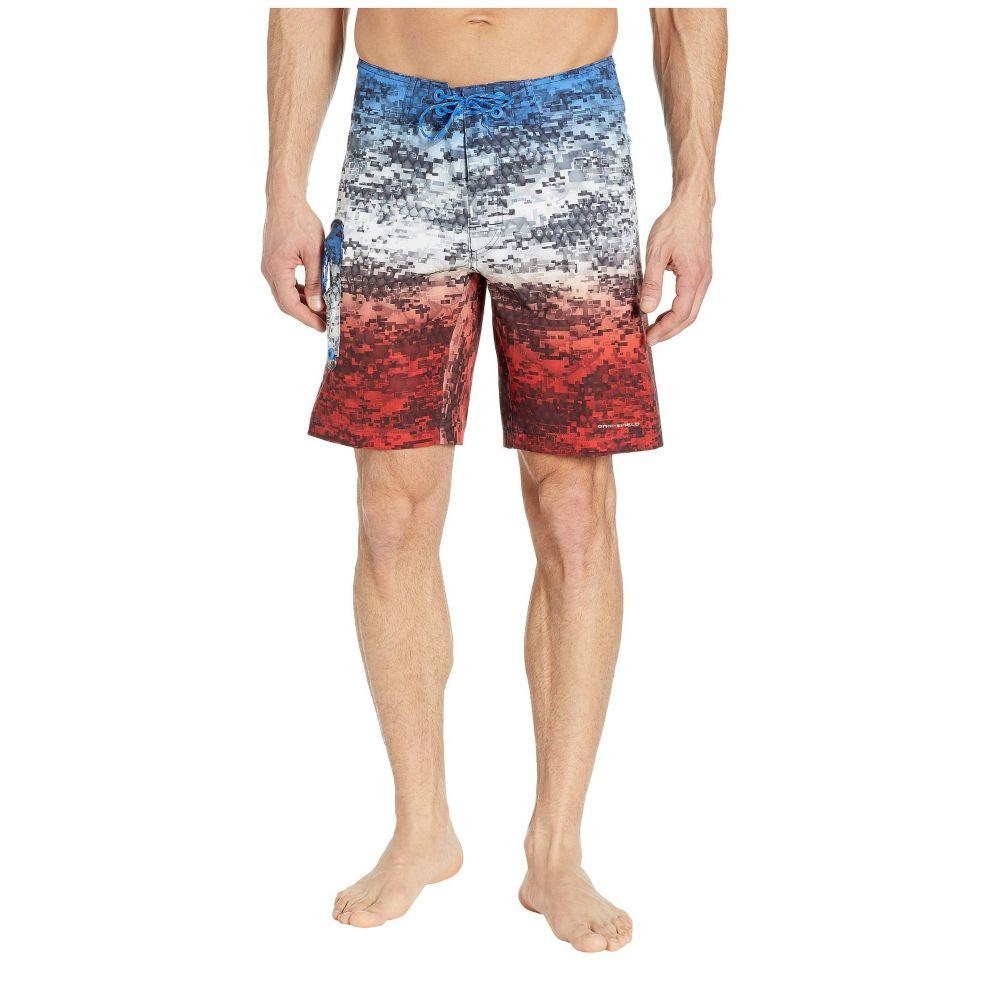 コロンビア Columbia メンズ 海パン ショートパンツ 水着・ビーチウェア【PFG Offshore II 9 inch Board Shorts】Americana Digi Camo Fade