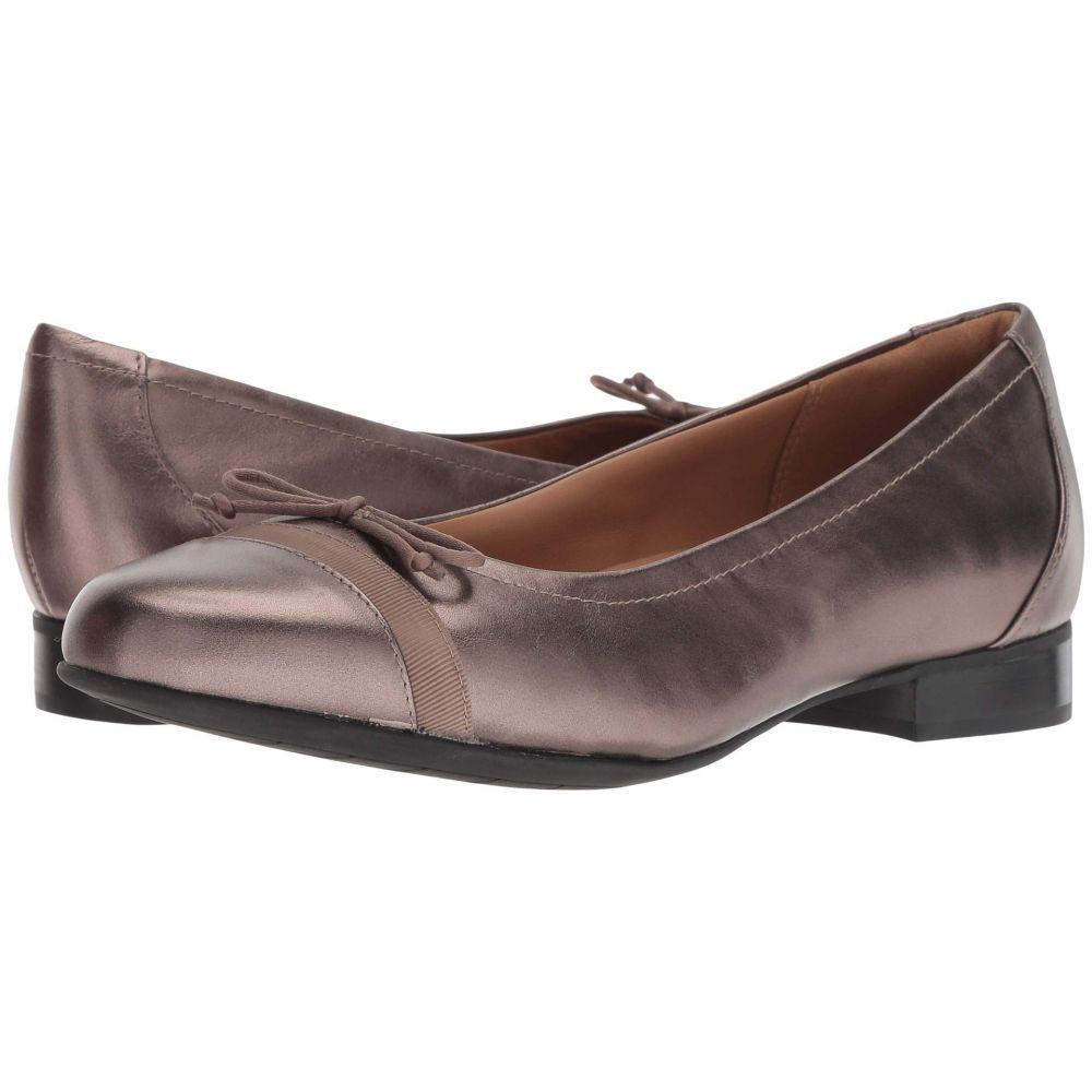 クラークス Clarks レディース スリッポン・フラット シューズ・靴【Un Blush Cap】Pebble Metallic Leather