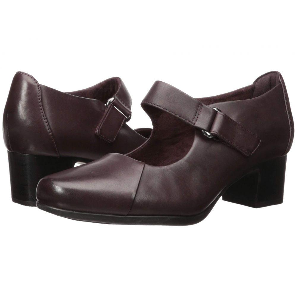 クラークス Clarks レディース ヒール シューズ・靴【Un Damson Vibe】Aubergine Leather