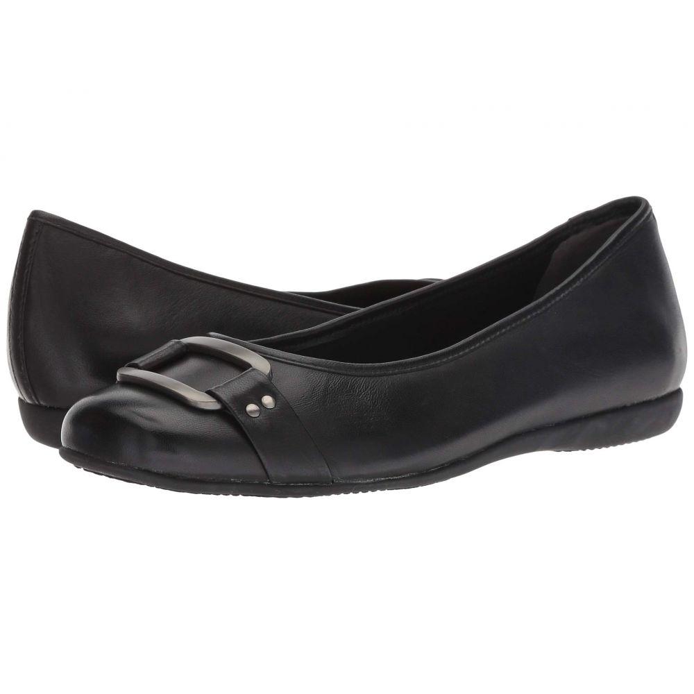 トロッターズ Trotters レディース スリッポン・フラット シューズ・靴【Sizzle Signature】Black Soft Burnished Leather