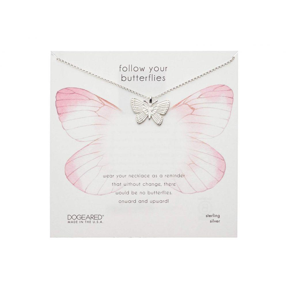 ドギャード Dogeared レディース ネックレス ジュエリー・アクセサリー【Follow Your Butterflies Large Beautiful Butterfly Necklace】Sterling Silver