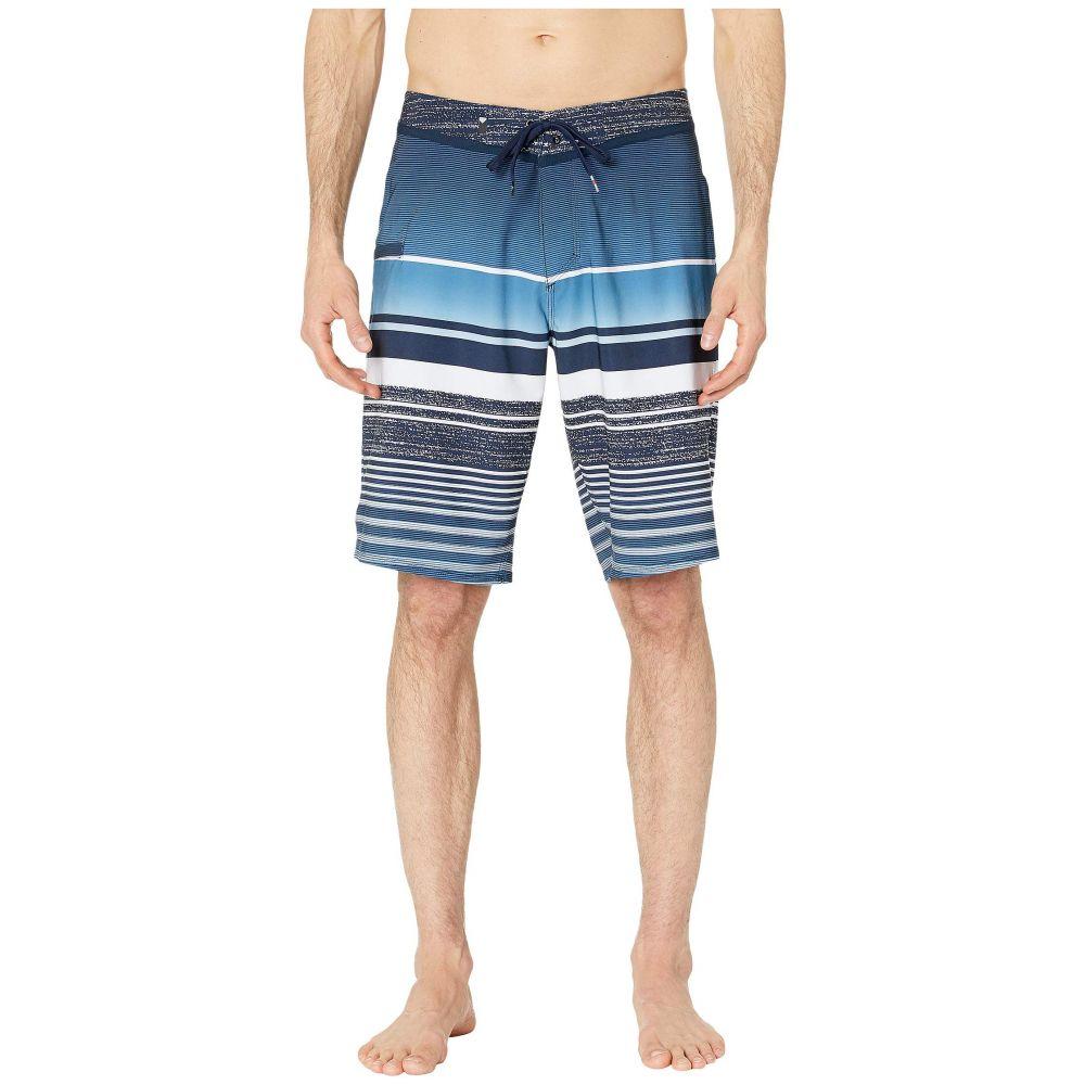 クイックシルバー Quiksilver メンズ 海パン 水着・ビーチウェア【21' Everyday Stripe Vee 2.0 Boardshorts Swim Trunks】Navy Blazer