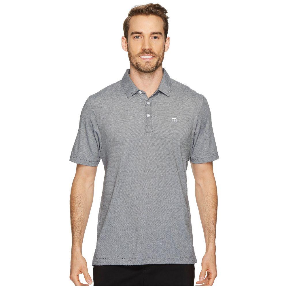 トラビスマシュー TravisMathew メンズ ポロシャツ トップス【The Zinna Polo】Grey Pinstripe/White