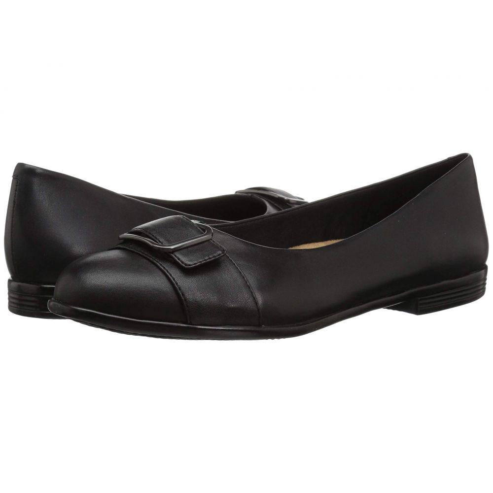 トロッターズ Trotters レディース スリッポン・フラット シューズ・靴【Aubrey】Black Soft Nappa Leather