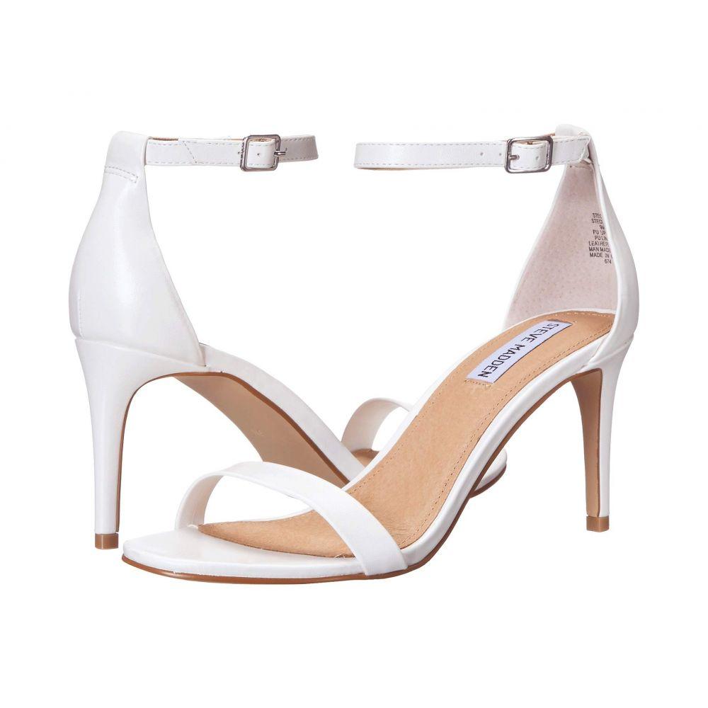 スティーブ マデン Steve Madden レディース サンダル・ミュール シューズ・靴【Exclusive - Stecia Heeled Sandal】White
