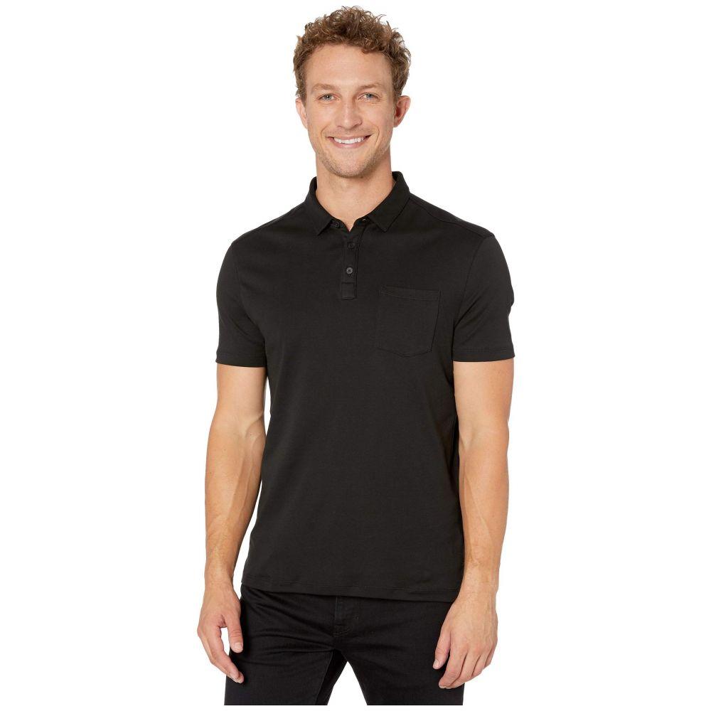 ジョン バルベイトス John Varvatos Star U.S.A. メンズ ポロシャツ 半袖 トップス【Burlington Short Sleeve Classic Fit Cotton Interlock Polo K4525V3B】Black