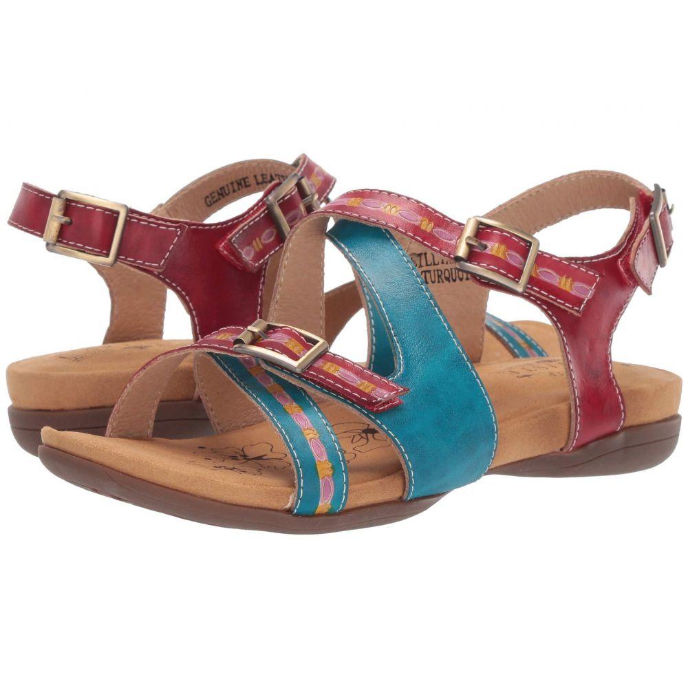 スプリングステップ L'Artiste by Spring Step レディース サンダル・ミュール シューズ・靴【Lilliana】Turquoise Multi
