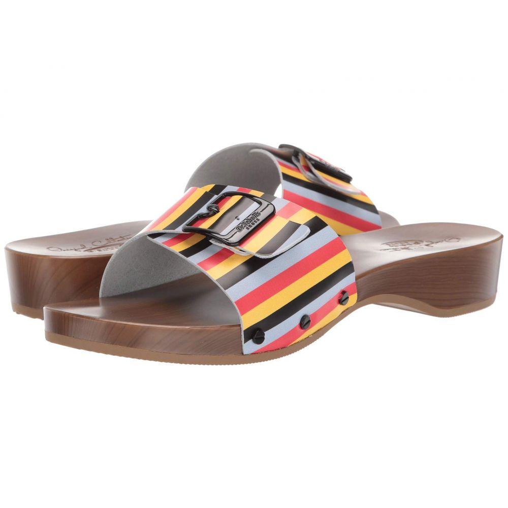 ドクター ショール Dr. Scholl's レディース サンダル・ミュール シューズ・靴【Its Better - Original Collection】Black Multi Stripe Leather