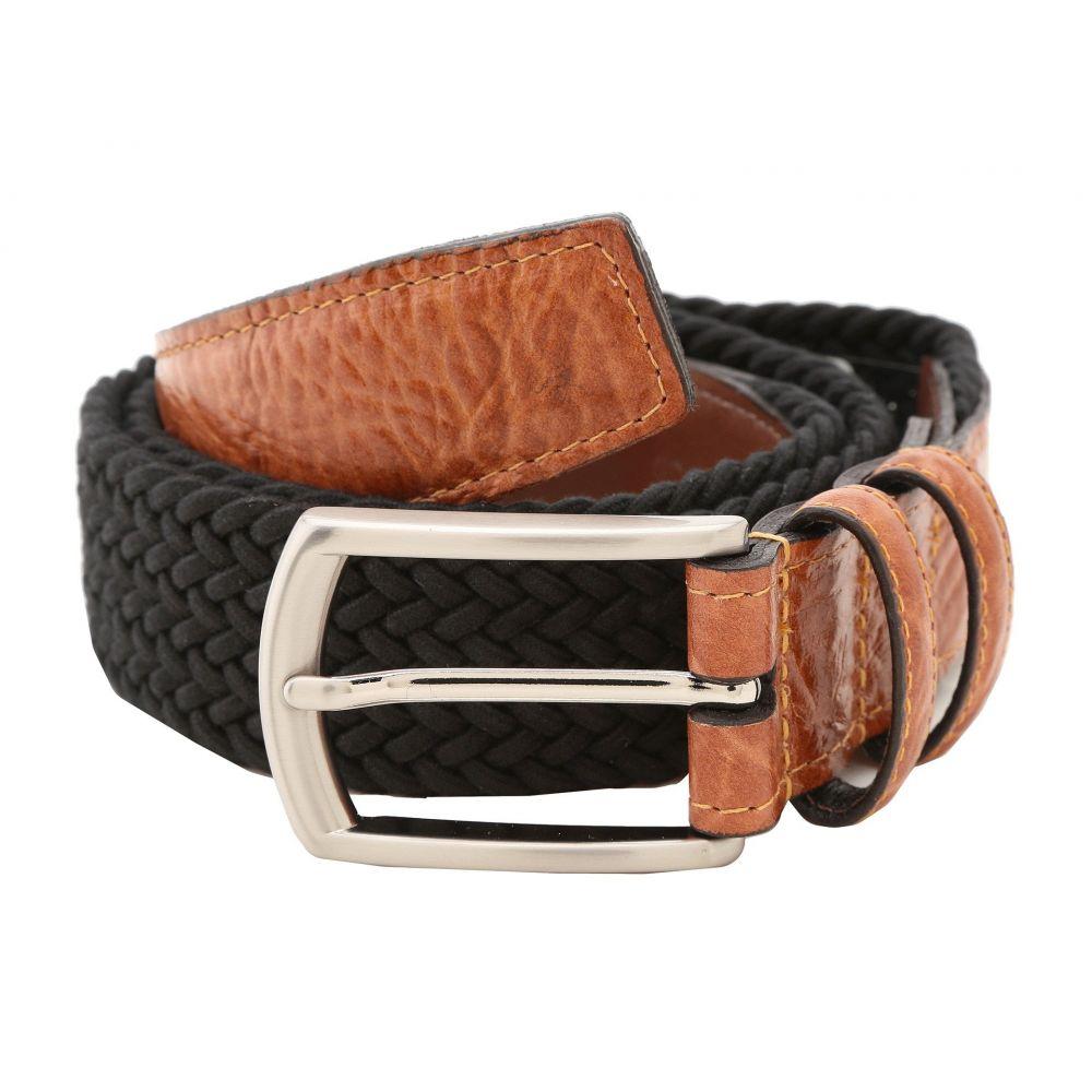 トリノレザー Torino Leather Co. メンズ ベルト 【32MM Italian Woven Multi Cotton Elastic】Black