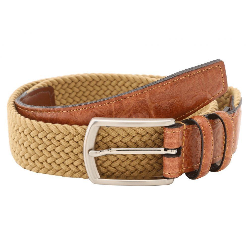 トリノレザー Torino Leather Co. メンズ ベルト 【32MM Italian Woven Multi Cotton Elastic】Khaki