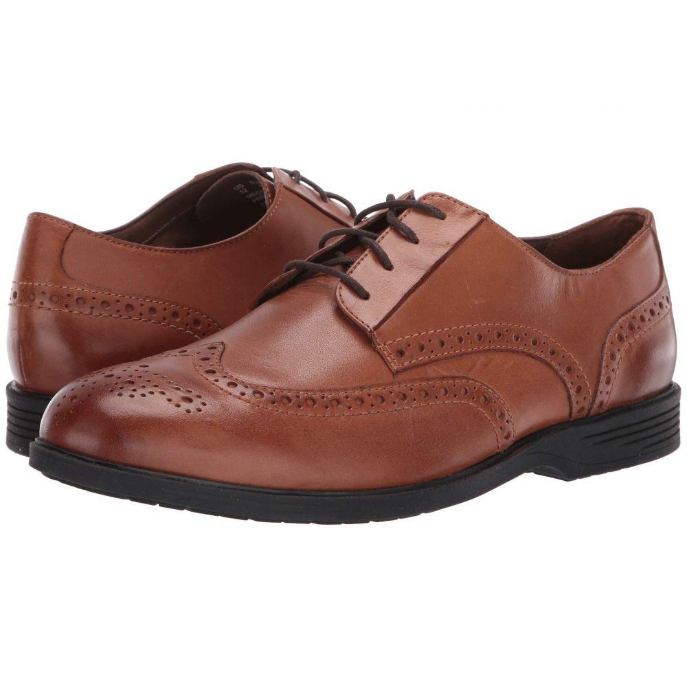 ハッシュパピー Hush Puppies メンズ 革靴・ビジネスシューズ ウイングチップ シューズ・靴【Shepsky Wing Tip Oxford】Dark Tan Leather