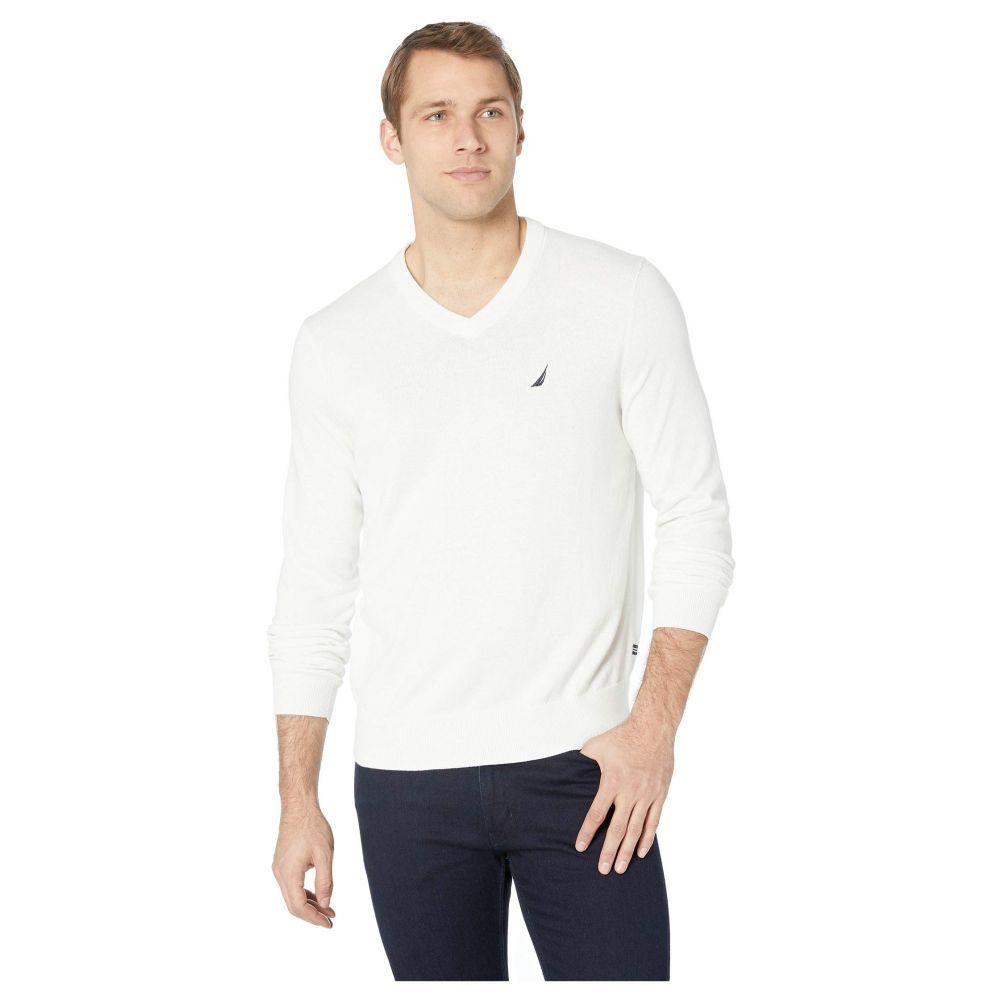 ノーティカ Nautica メンズ ニット・セーター Vネック トップス【V-Neck Sweater】Marshmallo