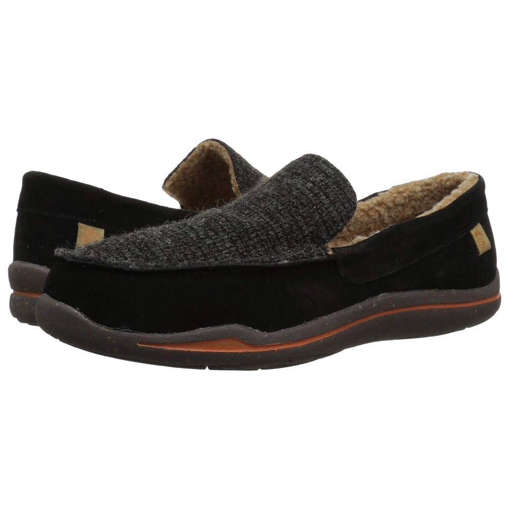 エーコーン Acorn メンズ スリッパ シューズ・靴【Ellsworth Suede Moc】Black
