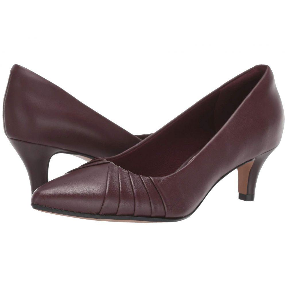クラークス Clarks レディース ヒール シューズ・靴【Linvale Crown】Burgundy Leather